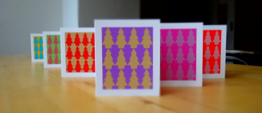 Tessellation Art Christmas Cards.