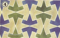 Escher's sketch of tessellating pattern from Alhambra