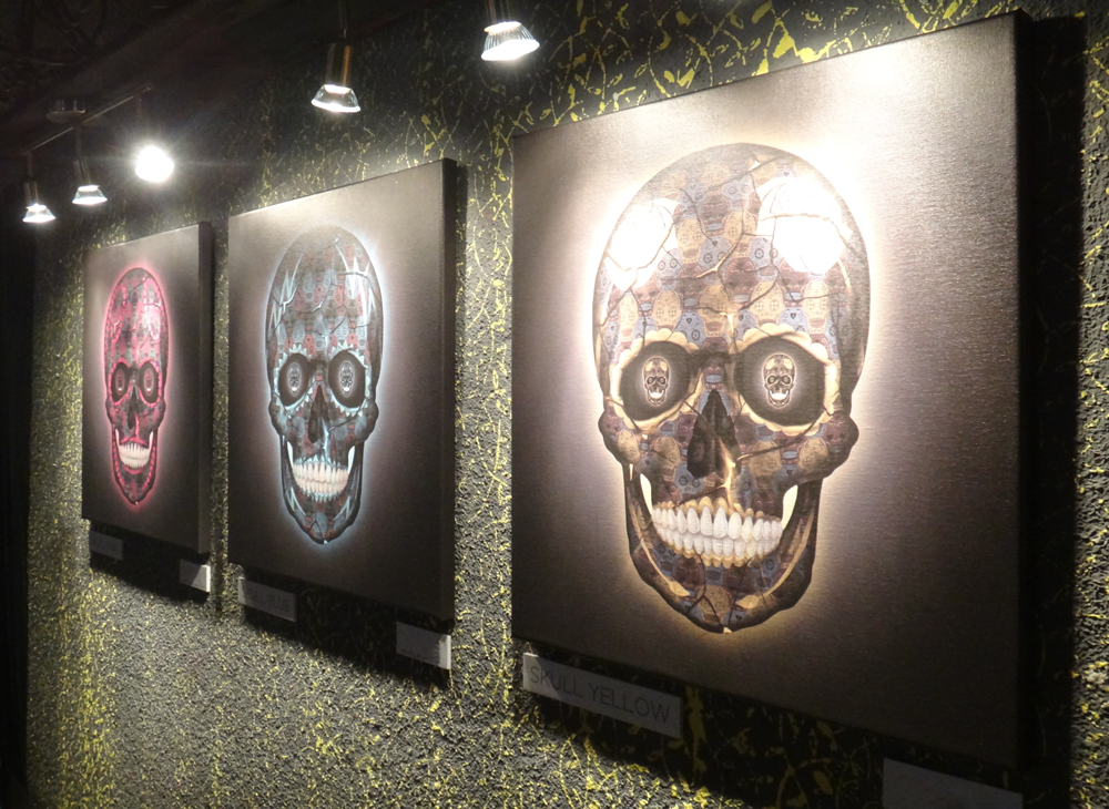 Skull Series Triptych by Tessellation Art