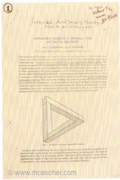 L. S. and R. Penrose's publication of Penrose Triangle, 1958