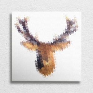 Stag Head Canvas