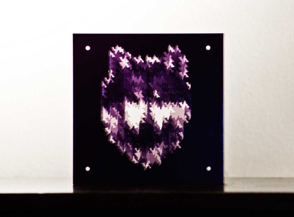 Wold Head 3D: Layered laser cutting